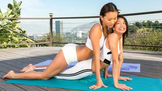 Yoga with two hotties image