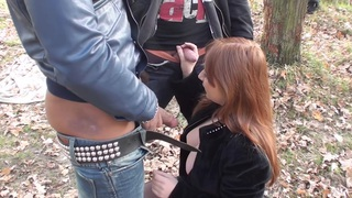 Odile in breasty gal enjoys hard dick_in an_outdoor sex vid image