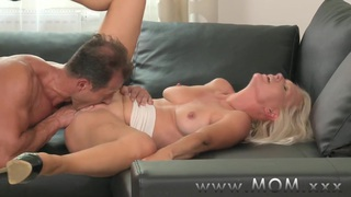 Popular mom and son hard fuck, Mom blonde milf gets fucked hard image