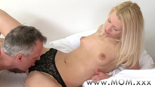 Image: MOM Blonde MILF rides big cock