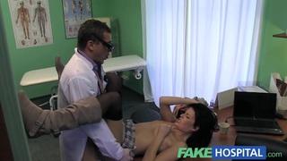 Image: Fake Hospital Stiff neck followed by a big stiff cock