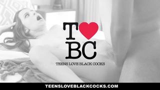 TeensLoveBlackCocks - Skinny Kacy Lane Rides Big Black Cock image