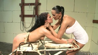 Image: Bettina DiCapri and Mandy Bright tied hard with rope