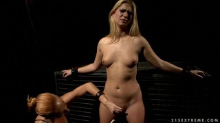 Image: Nasty Katy Borman pegs this sluts flappy fanny lips