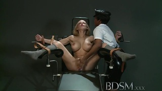 BDSM XXX Slave girl gets orgasm from angry Mistress image
