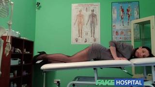 FakeHospital G spot massage gets hot brunette wet image