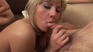 Karolina & Lucia & Susie in group sex action with young skinny porn girls image