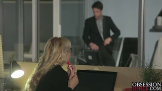 Image: Sexy blonde Samantha Rone in a passionate office romance