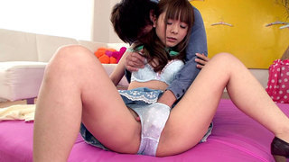 Exotic Japanese_Girl Fucks And Squirts image