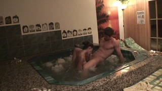 Nessa Devil in homemade video showing hardcore sex in a pool image