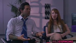 Redhead Darla and horny Gwen loves to share one big cock image