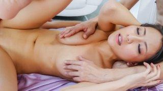 Hottie Ren Azumi enjoying a wild threesome session image