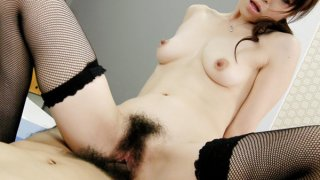 Office honey Maki's boss takes out vibrators and tunes up her nipples and pussy image