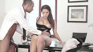 Valentina Nappi gets fucked at work image
