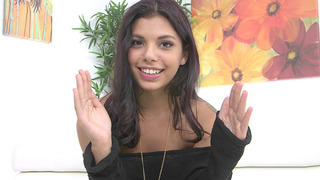 Horny Brazilian teen Gina Valentina talks with the cameraman image
