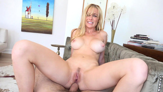 Kayden Kross fucks the cock anal, cowgirl, POV style image