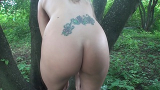 Willa in amateur girl sucks and_fucks in a forest image