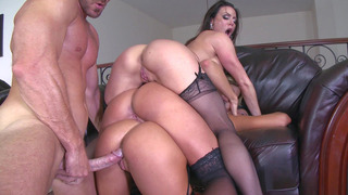 Johnny Sins fucks Kissa Sins, Kendra Lust, and Peta Jensen_in turn image
