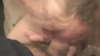 Dirty blonde crack whore slurps on dick for fast pay, pay loan Images image