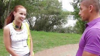 Redhead jerks_two cocks_in public image
