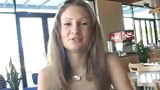 Flashing Tits In A Restaurant image