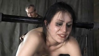 Image: Tied up cutie acquires tongue and facial torture
