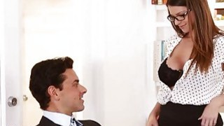Busty secretary Brooklyn Chase gets a pearl necklace image