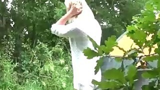 Image: Amateur babes flashing bald cunts pissing