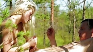 Petite Olivia Devine_slit banged in the woods image