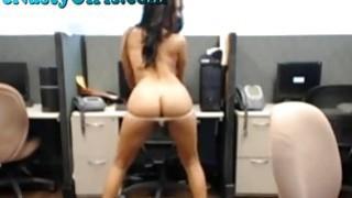 Hot Webcam Masturbates At Work image