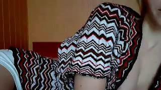 Dressed Girl Teasing_Masturbation On Webcam image