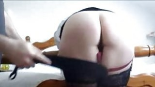 Spanking her ass before she masturbates for me image