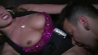 Busty blonde stripped and fucked in the VIP image