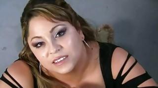 Image: Big tit hottie gives a handjob