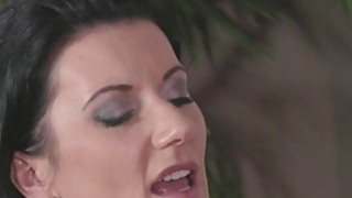 Brunette mature lady fucks young cock image