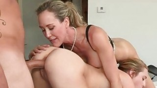 Milf Brandi Love 3some on massage table image