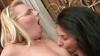 Image: Grannies and Cute Teens Lesbian Love Compilation