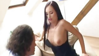 Busty brunette has anal sex with her boyfriend image