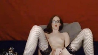 CyberSlut Sexy Brunette Spreads And Cums image