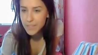 Lovelly amateur teen teasing on webcams image