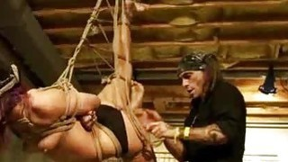 Shibari Suspended And Spanked image