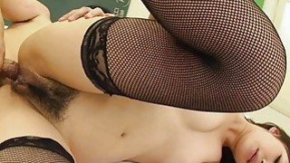Dick dipping the Asian small titty school girl image