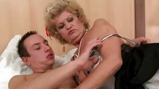 Old maid enjoys sex with young man image