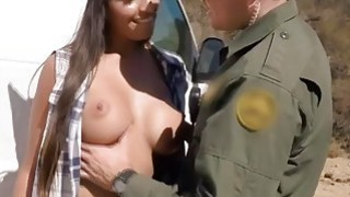 Hot and Sexy Smuggler Gets Caught And Made To Pay With Her Pussy image