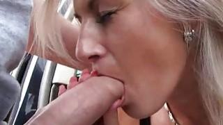 Hitchhiker hottie Alena fucked in public image
