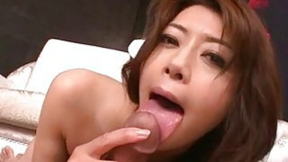 Maki Hojo rides cock and swallows_fresh jizz image