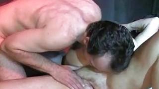 OldNanny Big tits bbw granny have a threesome sex image
