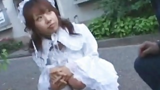 Innocent Japanese teen maid disgraced by older man image
