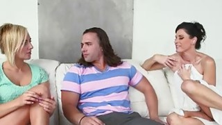 Milf India Summer threesome with teens after sneaking on her image