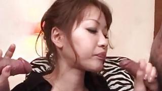 Rika Kurachi in rough_bondage action along_horny males image